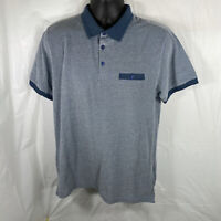 NWT STEEL & JELLY Polo Shirt Size Large Mens Blue Short Sleeve Golf London Fit L