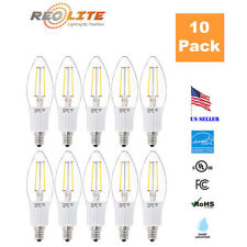 Reo-Lite 2W Candelabra LED Light Bulb B10 25W Replacement E12 Base Dimmable