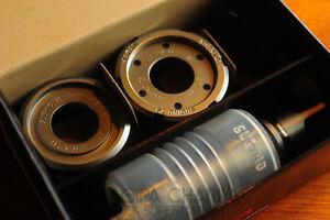 Sugino 75 Super Lap Bottom Bracket set (NJS) Mirror Polished Beairing Races ISO