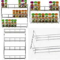 HOT 1-6Tier Kitchen Spice Rack Cabinet Organizer Wall Mount Storage Shelf Holder