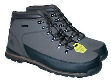 MENS LEATHER UPPER,LACE UP, SAFETY WORK BOOT, STEEL TOE CAP, BROWN SIZE 13