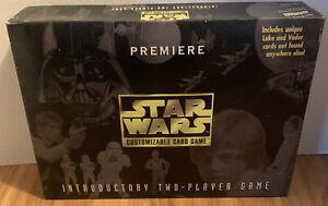 STAR WARS CUSTOMIZABLE CARD GAME PREMIERE 2-PLAYER RARE 1995