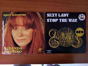dischi 45giri 7- ORO - SEXY LADY - STOP THE WAR + MIRANDA MARTINO-MARE LAZZARONE