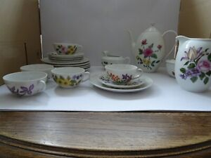 Arzberg  Tee- Kaffeeservice 5 Personen Blumendekor Handbemalt 20 Teile