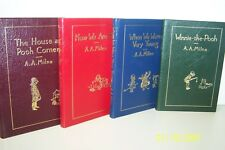 Winnie-the-Pooh; 4 Volumes A.A. Milne Easton Press Leather 1985 USA Collectors