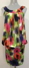 STUNNING DESIGNER CHARLIE BROWN WOMEN'S MULTICOLOURED DRESS SIZE 8