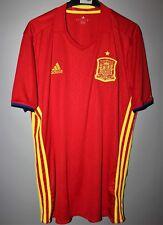 SPAIN ESPANA NATIONAL TEAM 2016/2017 HOME FOOTBALL SHIRT JERSEY CAMISETA ADIDAS