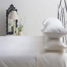 540 Thread Count Satin Stripe 100% Egyptian Cotton Duvet Set Single in White