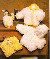 "Loopy Baby Jackets (hood option) Hat & Bolero 16"" - 24"" ~DK Knitting Pattern"
