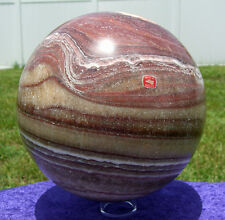 RED CALCITE Giant Rare Crystal Sphere Ball Over 22 Pounds Our LARGEST Ever