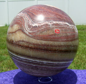 Giant CALCITE Crystal Sphere Ball Custom Crafted from Mexico 22 Pounds For Sale