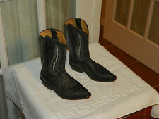 Rio Grande Youth Cowboy Western Boots Black Leather size Mex 18.5 US 11.5