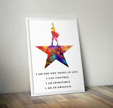 Hamilton Musical, print, poster, picture, quote, wall art, gift, inspirational