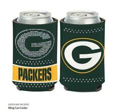 Verde Bay Packers Donne Raffreddatore NFL Calcio Can Cooler Strass