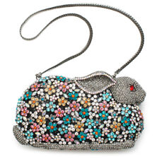Rabbit hip hop Minaudiere Evening Bag Handbag Crystal Evening Bead
