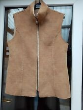 Modern casual women sleeveless gillet Bodywarmer fur lined Jacket Size 16
