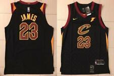 Lebron James Jersey NBA Cleveland Cavaliers 23 BLACK STRIPE Swingman Authentic