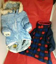 Dog XL Pet Life Thinsulate Puff Coat Removable Hood NWT + 1 Used Reversible Coat