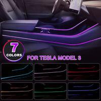Auto Control Seven Colors Car Interior Atmosphere LED Light For Tesla Model   ∑