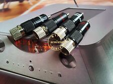 4x Rhodium Plated Non Solder RCA Connector Plug AudioPhile High Grade Plugs
