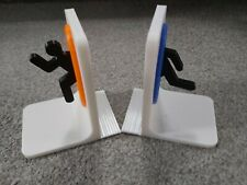 Portal Bookends Video Games DVD Book Supports White with Orand & Blue Portals