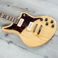 D'Angelico Deluxe Bedford Solidbody Electric Guitar Natural Swamp Ash P90s +Case