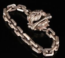 CHINESE TIBET SILVER BRACELET OLD ENGLISH BULLDOG STATUE COLLECTION