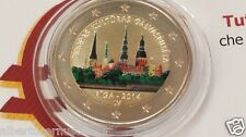 2 euro 2014 LETTONIA color farbe couleur Lettonie Lettland Latvia Латвия Riga