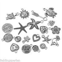 20 Mix Charms Anhänger Meerwelt Motive für Halskette Armband Konvolut #5
