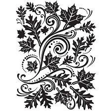 Fall Leaves Swirl Darice Embossing Folder for Cardmaking, Scrapbooking, etc