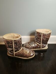 Sparkle Ugg Boots Champagne worn twice SHIPS SAME DAY 190108610772