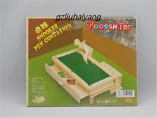 3D Wooden Model Puzzles Assembly DIY Education Childs Toy Snooker Pen-container
