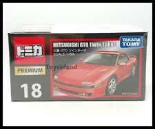 TOMICA PREMIUM 18 MITSUBISHI GTO TWIN TURBO 1/63 TOMY DIECAST CAR NEW RED