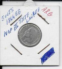 50 centimes napoleon iii tete laurée 1864bb argent