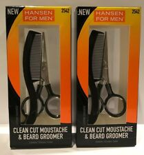 Lot Of 2 Sally Hansen For Men Clean Cut Moustache & Beard Groomer Kit - 2542