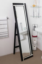 Large Wall Mirror Very Modern Double Black Edge Standing Cheval 5ft X 1ft3