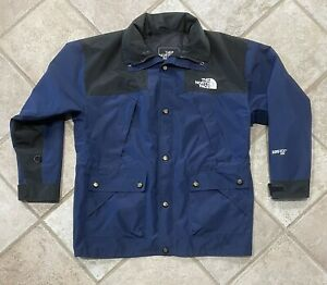 The North Face Mens Gore-Tex XCR Summit Series Blue Wind Rain Coat Jacket Size