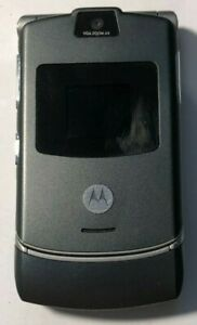 READ FIRST Motorola RAZR V3 Gray T-Mobile Straight Talk Cell Phone Excellent