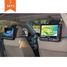 TFY Car Headrest Mount for SYLVANIA SDVD9805 Portable DVD Player - 2 Pieces