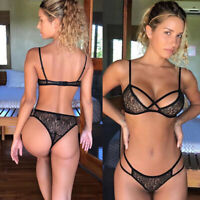 Lace Lingerie Spandex Women Push Sleepwear Sexy Set Underwear Up Bra Panties