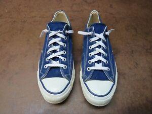 Vintage Converse Chuck Taylor All Star PURPLE Low Blue Label USA Worn 7.5