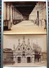 2 PHOTOS ALBUMEN PISA EGLISE MARIA DELLA SPINA DEL COMPOSANTO ITALIE ITALIA M182