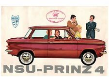 ▬►RARE PROSPECTUS ORIGINAL  NSU-PRINZ 4 + Photo Originale de 1961 TBE