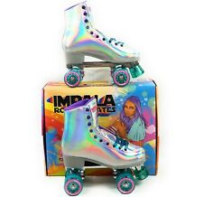 Impala Quad Roller Skates Holographic Vegan Women's Sz 10 Brand New In Hand