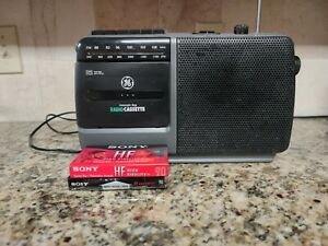 GE Vintage Cassette Player AM FM Radio Recorder General Electric 3-5264A Tested