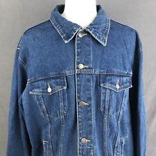 WRANGLER HERO Blue Jean Denim TRUCKER Jacket XXL Rockabilly Style Cotton Coat