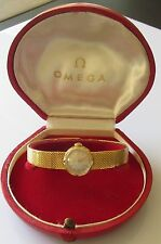 Vintage Omega 18ct yellow gold 1961 ladies manual bracelet watch (Boxed)