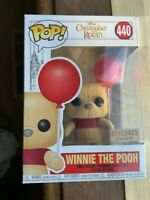 Rare Flocked Winnie The Pooh + Red Balloon 🎈 Funko Pop Vinyl NIMB +Sticker+P/P