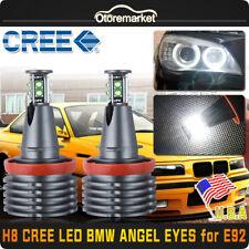 80W BMW H8 CREE LED Angel Eye Ring Marker Light White Bulb For 1 3 5 X Series US