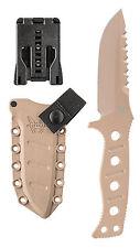 Benchmade Adamas 375SN Fixed Blade Drop Point Tactical Knife Desert Sand Combat